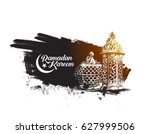 eid mubarak celebration ... | Shutterstock .eps vector #627999506