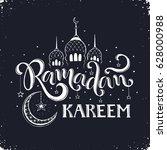 ramadan kareem hand drawn... | Shutterstock .eps vector #628000988
