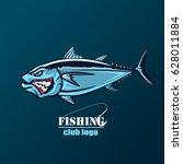 angry tuna fish logo. tuna...   Shutterstock .eps vector #628011884