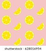 pink lemonade seamless vector... | Shutterstock .eps vector #628016954