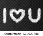 white cloud text i love you... | Shutterstock .eps vector #628023788