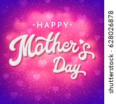 mothers day card or banner with ... | Shutterstock .eps vector #628026878