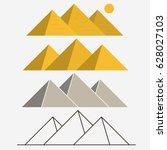 egypt pyramids  giza egyptian... | Shutterstock .eps vector #628027103