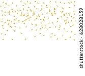 golden confetti falling on... | Shutterstock .eps vector #628028159