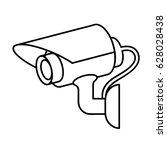 icon illustration for cctv... | Shutterstock .eps vector #628028438