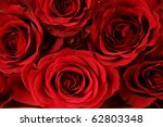 Stock photo fresh red roses background 62803348