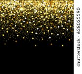 gold glitter frame with empty... | Shutterstock .eps vector #628035590