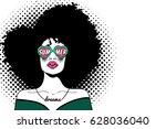 pop art face. sexy fashion... | Shutterstock .eps vector #628036040