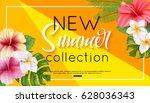 summer collection banner design ... | Shutterstock .eps vector #628036343