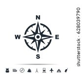 compass icon | Shutterstock . vector #628039790