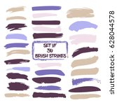 set of thirty trendy purple and ... | Shutterstock .eps vector #628044578