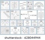 mega collection of twenty...   Shutterstock .eps vector #628044944