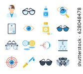 ophthalmologist equipment... | Shutterstock .eps vector #628048478