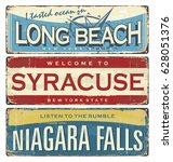 Vintage City Label. Vintage Tin ...