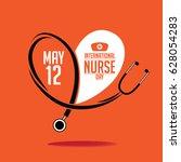 international nurse day icon...   Shutterstock .eps vector #628054283