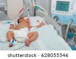 newborn baby with... | Shutterstock . vector #628055546