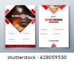 flyer design. corporate... | Shutterstock .eps vector #628059530