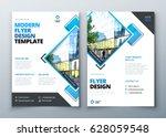 flyer design. corporate... | Shutterstock .eps vector #628059548