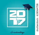 graduation label. vector text... | Shutterstock .eps vector #628064708