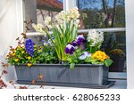 Flower Box With Various Flowers