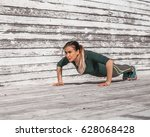 fitness sporty girl in sporty