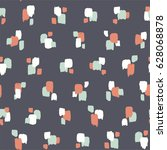 seamless pattern with abstract... | Shutterstock .eps vector #628068878