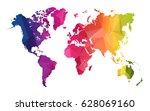 abstract polygon map   vector... | Shutterstock .eps vector #628069160