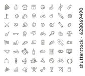 outline web icon set   sport... | Shutterstock .eps vector #628069490