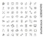 outline web icon set   sport... | Shutterstock .eps vector #628069490