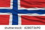 closeup norway flag  waving in... | Shutterstock . vector #628073690