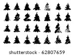 traced silhouettes of drawn... | Shutterstock .eps vector #62807659