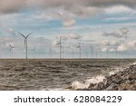 offshore windmill farm park... | Shutterstock . vector #628084229