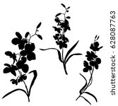 Set Of Silhouettes Of Flowers ...