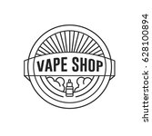 vape shop logo. vector vintage... | Shutterstock .eps vector #628100894