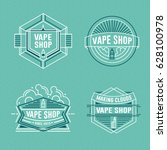 vape shop logo. vector vintage... | Shutterstock .eps vector #628100978