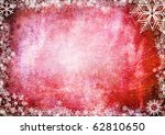 frame from snowflakes with... | Shutterstock . vector #62810650