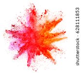 explosion of colored powder ...   Shutterstock . vector #628111853