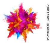 explosion of colored powder ... | Shutterstock . vector #628111880