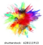 explosion of colored powder ...   Shutterstock . vector #628111913