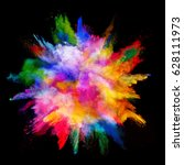 explosion of colored powder ... | Shutterstock . vector #628111973
