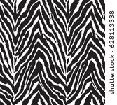 black and white zebra print  ... | Shutterstock .eps vector #628113338