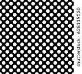 seamless pattern with dots.... | Shutterstock . vector #628119530