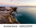 The Ocean Water Flows Along A...