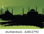 vector cityscape of istanbul | Shutterstock .eps vector #62812792