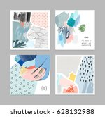set of creative universal art... | Shutterstock .eps vector #628132988