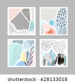 set of creative universal art... | Shutterstock .eps vector #628133018
