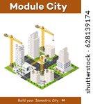 construction crane heavy | Shutterstock . vector #628139174
