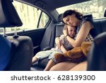 mother hug and consoling the... | Shutterstock . vector #628139300