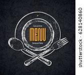 restaurant menu design. vector... | Shutterstock .eps vector #628140860