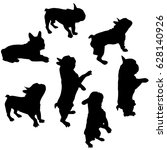set of vector silhouettes of a...   Shutterstock .eps vector #628140926